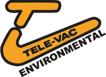 Tele-Vac Environmental logo in yellow and black